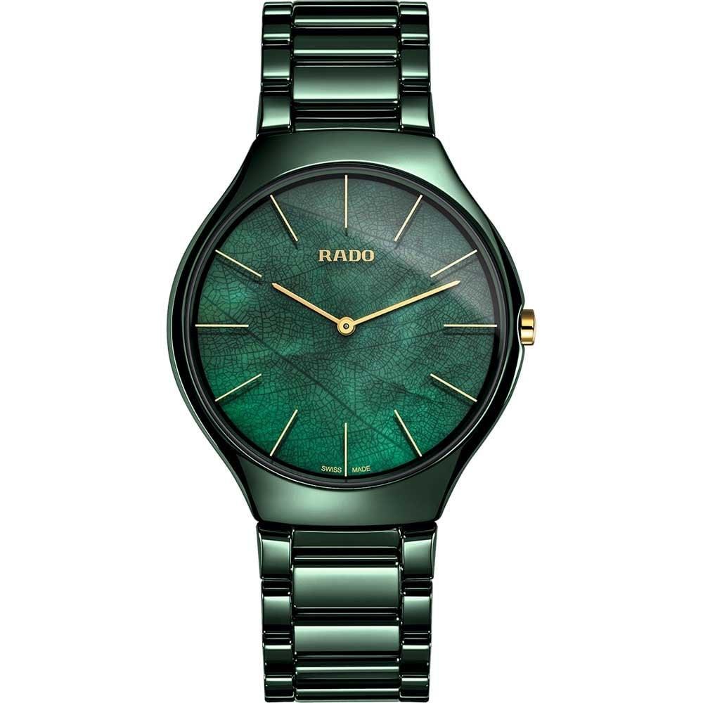 51c12a330 RADO True Thinline Leaf Green High-tech Ceramic Watch - Watches from ...