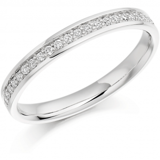 18ct Grain Set Half Eternity Ring 0.17ct