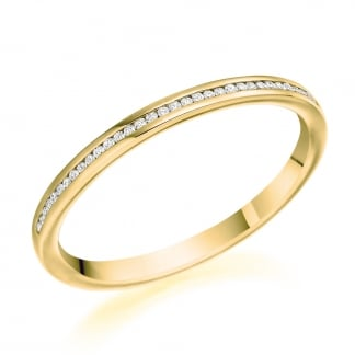 18ct Yellow Gold Half Eternity Ring 0.07ct
