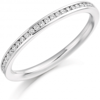9ct Channel Set Half Eternity Ring 0.20ct