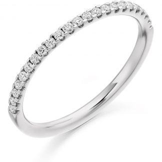 9ct Micro Claw Set 0.25ct Half Eternity Ring 0.25ct