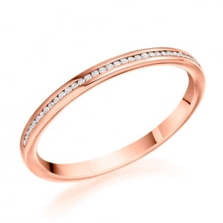 9ct Rose Gold Half Eternity Ring 0.07ct