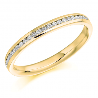 9ct Yellow Gold Half Eternity Ring 0.15ct