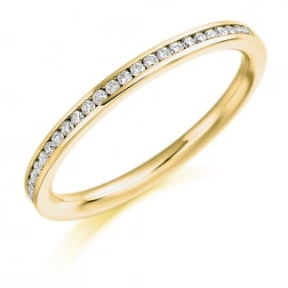 9ct Yellow Gold Half Eternity Ring 0.20ct