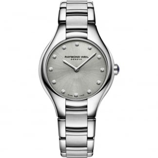 Ladies 32MM Noemia Diamond Grey Dial Watch