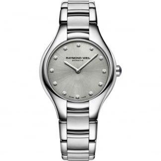 Ladies 32MM Noemia Diamond Grey Dial Watch 5132-ST-65081