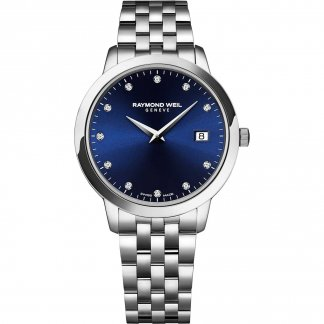 Ladies Blue Diamond Set Dial Toccata Watch