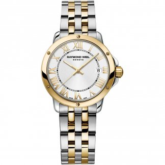 Ladies Two Tone Swiss Made Tango Watch with Date Window 5391-STP-00308