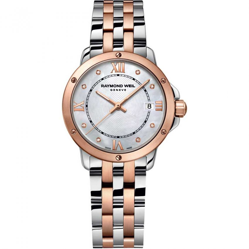Raymond Weil Ladies Rose Gold & Steel Diamond Tango Watch 5391-SB5-00995