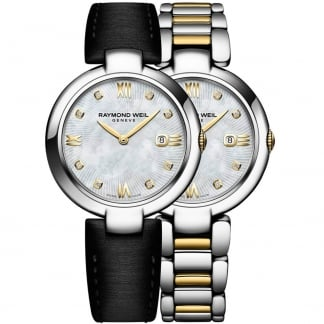 Ladies Shine Interchangeable Two Tone Diamond Set Watch