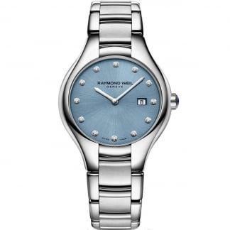Ladies 32MM Blue Dial Noemia Diamond Watch 5132-ST-50081