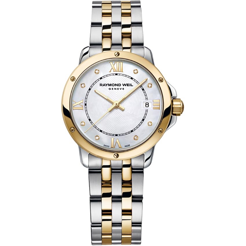 Raymond Weil Ladies Two Tone Diamond Set Tango Watch 5391-STP-00995