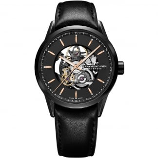 Men's Black Automatic Skeleton Dial Freelancer Watch 2715-BKC-20021