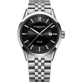 Men's Freelancer Automatic Black Dial Bracelet Watch