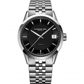 Men's Freelancer Black Dial Swiss Automatic Watch