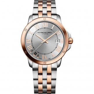 Men's Steel & Rose Gold Tango Watch