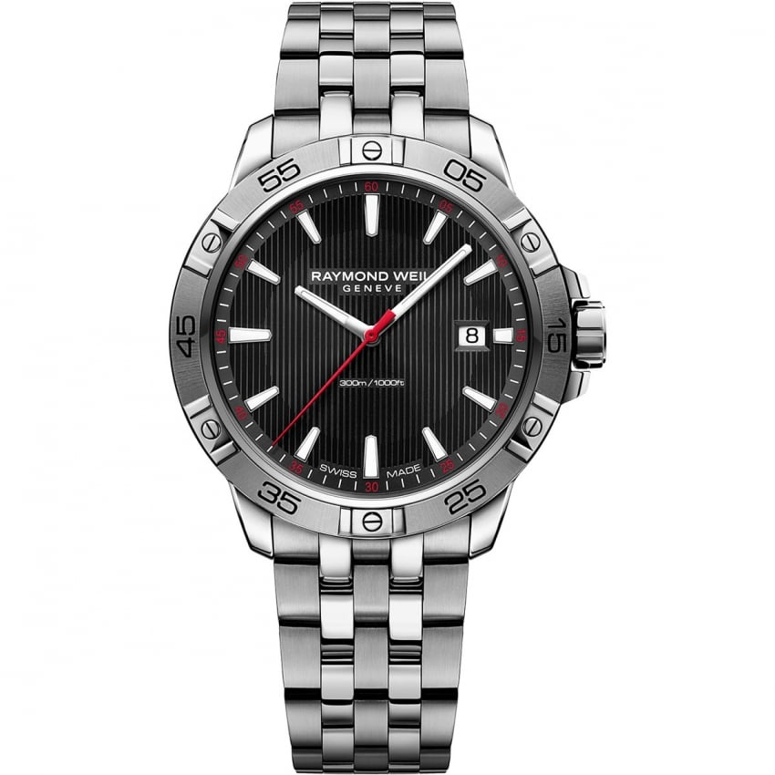 Raymond Weil Men's Tango 300 Quartz Watch With Black Dial 8160-ST2-20001