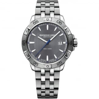 Men's Tango 300 Quartz Watch With Grey Dial 8160-ST2-60001
