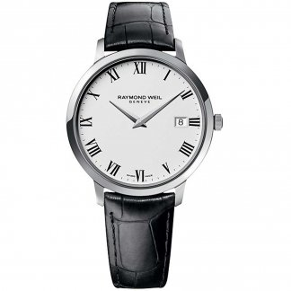 Men's Toccata 42mm Black Leather Watch