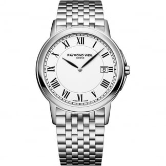 Men's Tradition Stainless Steel White Dial Watch