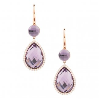 Diamond & Pear-Shaped Amethyst Earrings ADV888EA0944_01