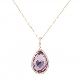 Diamond & Pear-Shaped Amethyst Pendant ADV888CL0979_01