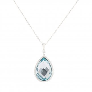 Diamond & Pear-Shaped Blue Topaz Pendant ADV888CL0979_02