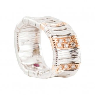 Elephantino White & Rose Gold Ring 430105ARLRDO