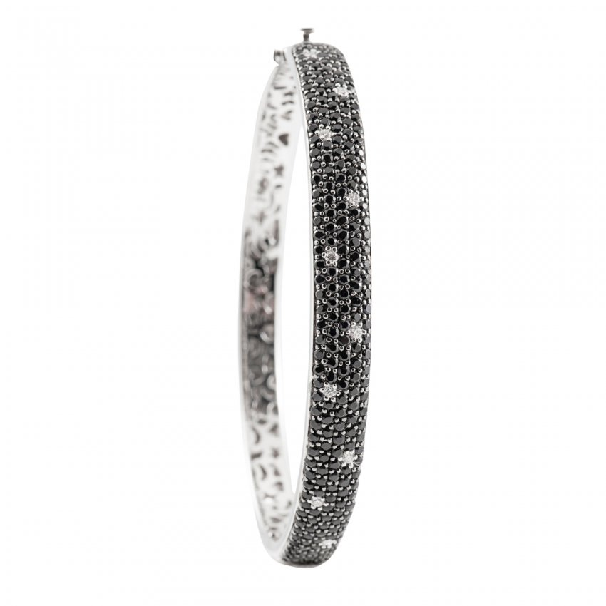 Roberto Coin Fantasia Diamond & Black Sapphire Bangle ADV051BA0175