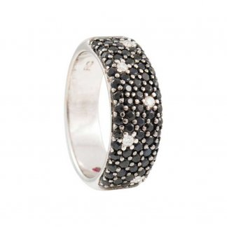 Fantasia Diamond & Black Sapphire Ring ADV051RI0175