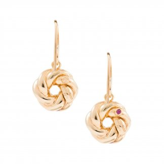 Gold Doughnut Twist Earrings AR674EA0227