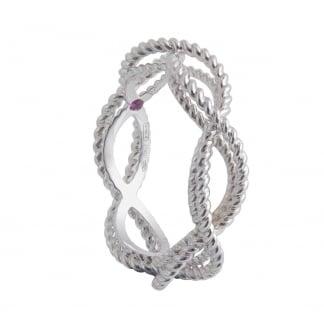 New Barocco White Gold Twist Ring AR777RI2513W