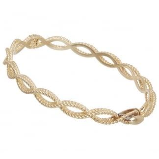 New Barocco Yellow Gold Twist Bangle AR777BA2513_01Y