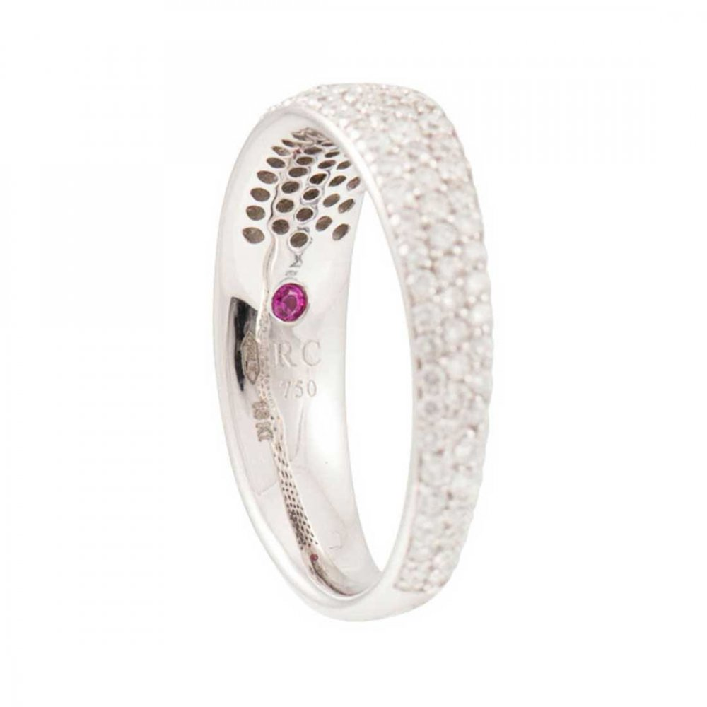 roberto coin pave set half eternity ring roberto
