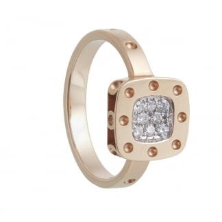 Petit Pois Moi Rose Gold Square Ring