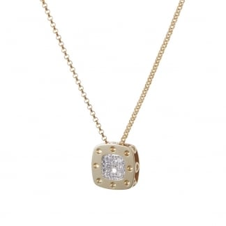 Petit Pois Moi Yellow Gold Square Pendant ADR777CL0520Y