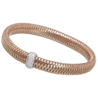 Primavera Rose Gold Bangle with Diamond Detail ADR555BR2387R