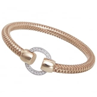 Primavera Rose Gold Spring Bangle with Diamonds ADR555BA2294R