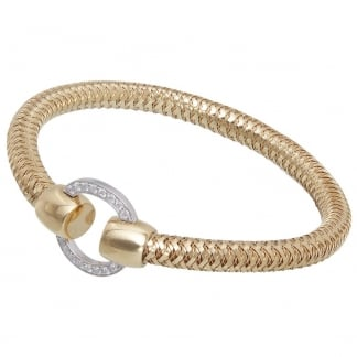 Primavera Yellow Gold Spring Bangle with Diamonds ADR555BA2294Y