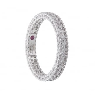 Symphony Diamond Set White Gold Eternity Ring