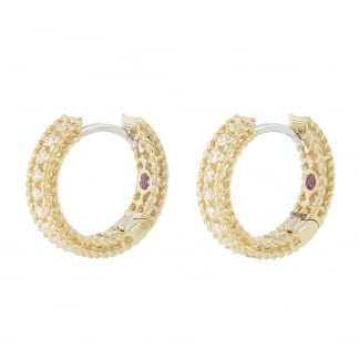 Symphony Yellow Gold Diamond Set Hoops ADR777EA0817Y