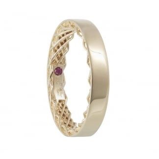 Symphony Yellow Gold Plain Ring