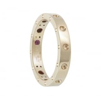 Symphony Yellow Gold Studded Ring AR777RI0619Y
