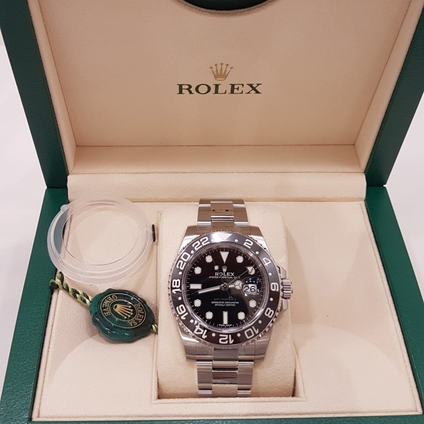Pre-Owned Rolex UNWORN GMT-Master II Oyster Perpetual Date 116710LN (2017) 4018518