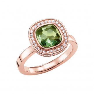 Rose Gold and Green Secret of Cosmo Ring