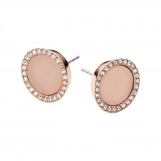 Rose Gold & Blush Acetate Stud Earrings