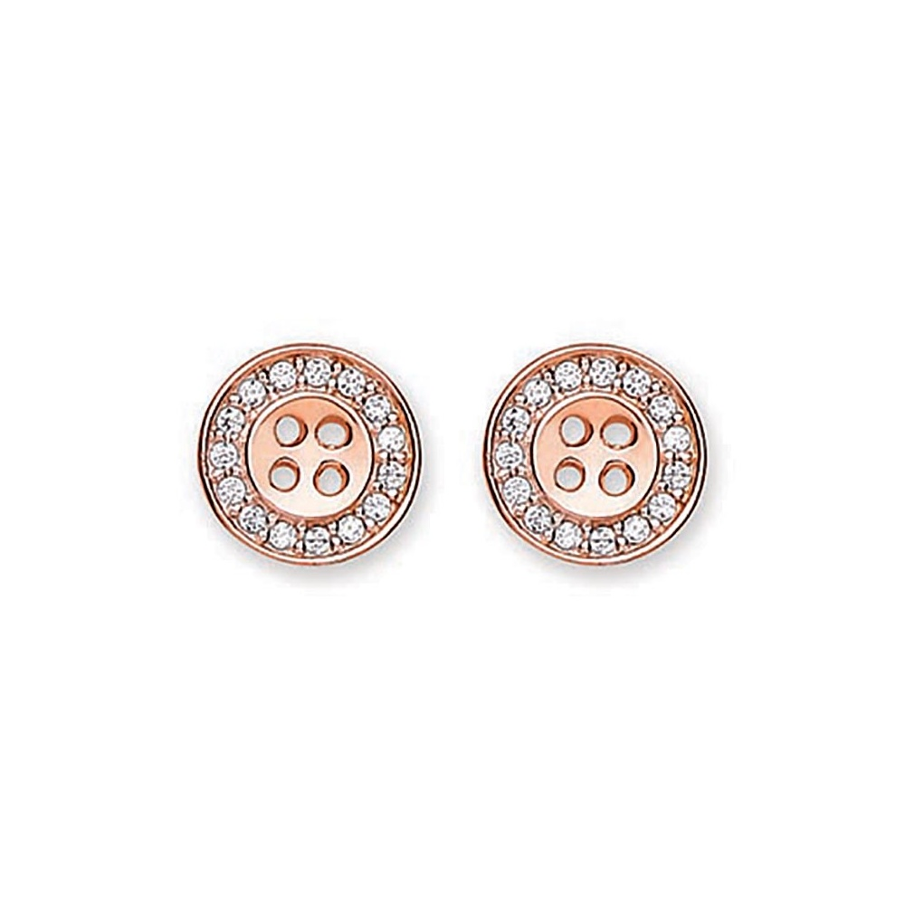 vinader earrings jewelry mini lyst rose fiji women s button monica stud