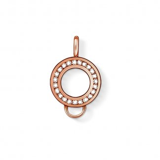 Rose Gold Crystal Charm Carrier X0183-416-14