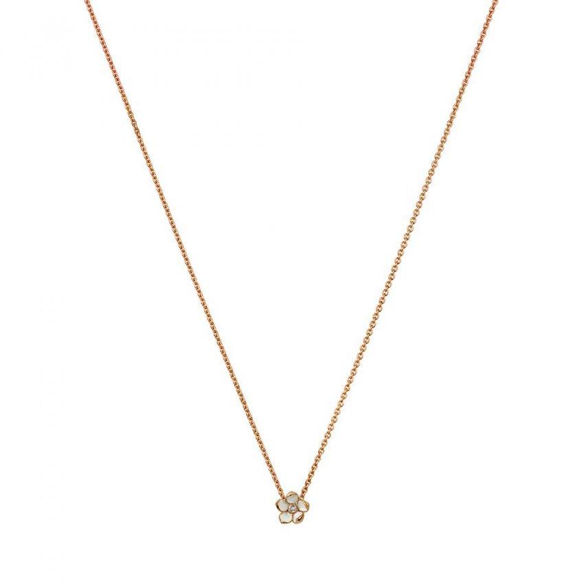 Shaun Leane Rose Gold & Diamond Small Cherry Blossom Pendant SLS252RG