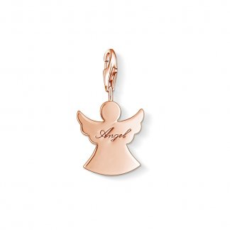 Rose Gold Guardian Angel Charm